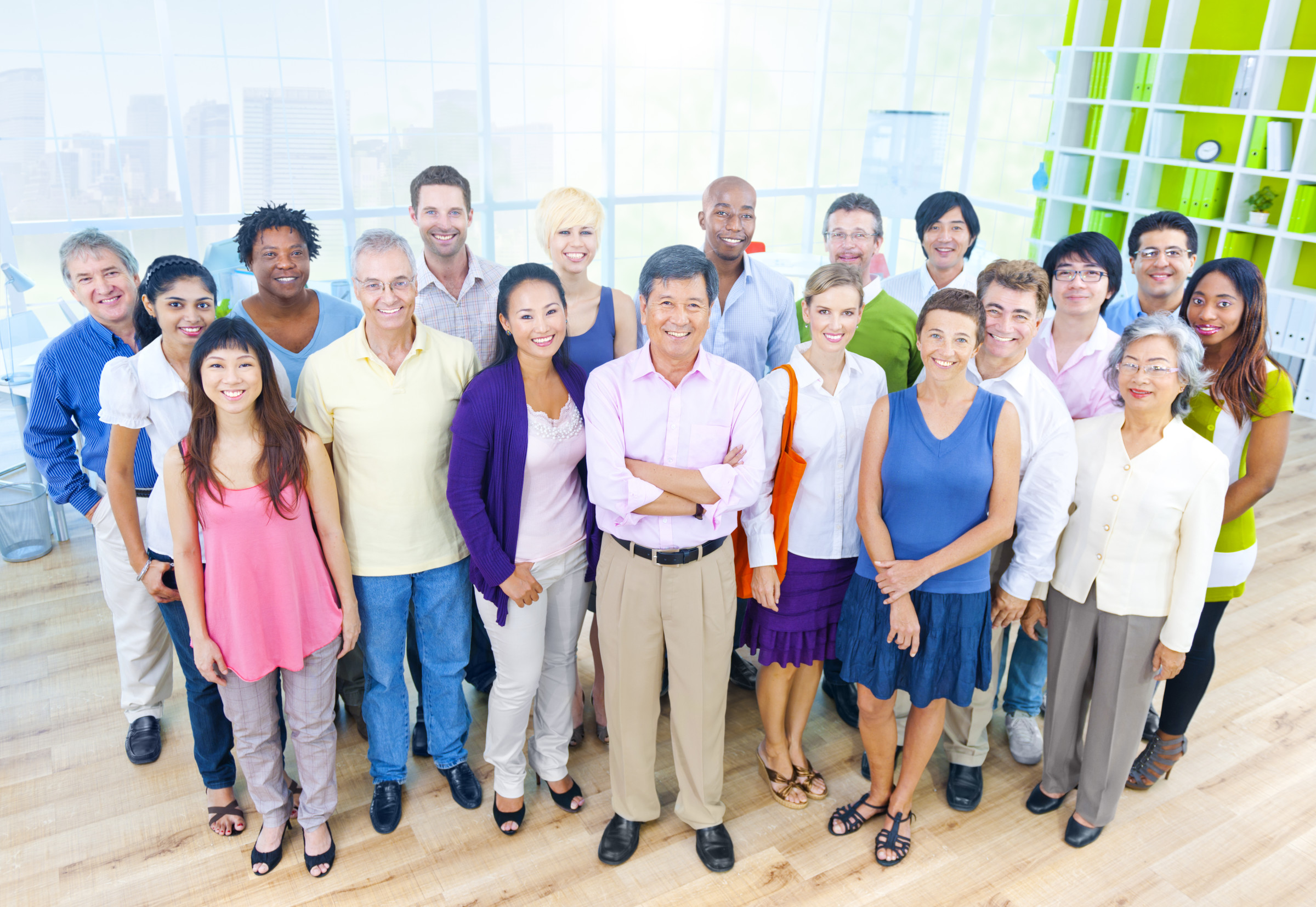Group of Business People in Casual Office Environment